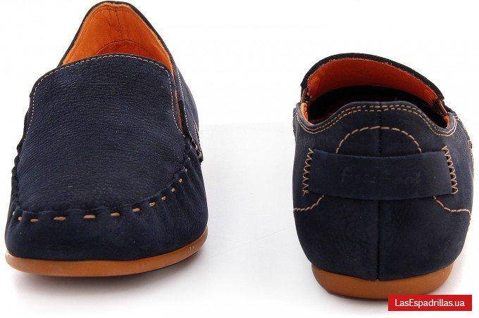 Мужские мокасины Las Espadrillas 627-89 тёмно-синего цвета 2